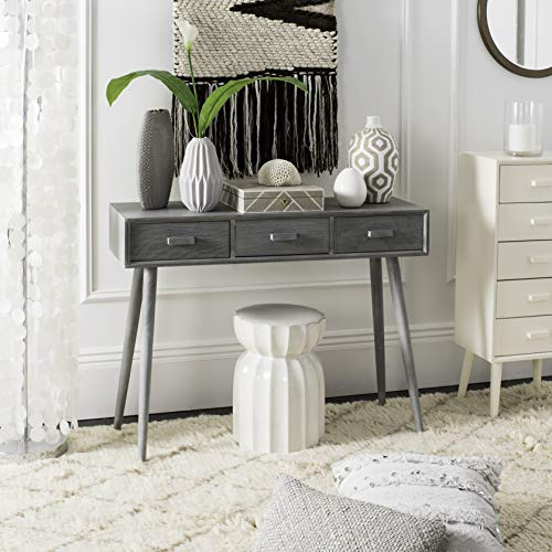 Safavieh Home Albus Mid-Century Modern Slate Grey 3-drawer Console Table