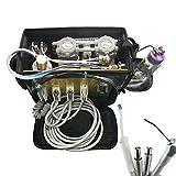 Denshine Portable Unit with Air Compressor Suction System 3 Way Syringe (Black Bag)...
