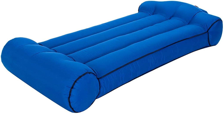 DYV Outdoor Doppelstreifen Liegestuhl Air Sofa Tragbare Marineblau Lounge Couch Schwimmendes Bett Wasserdicht für Camping Strand oder Pool