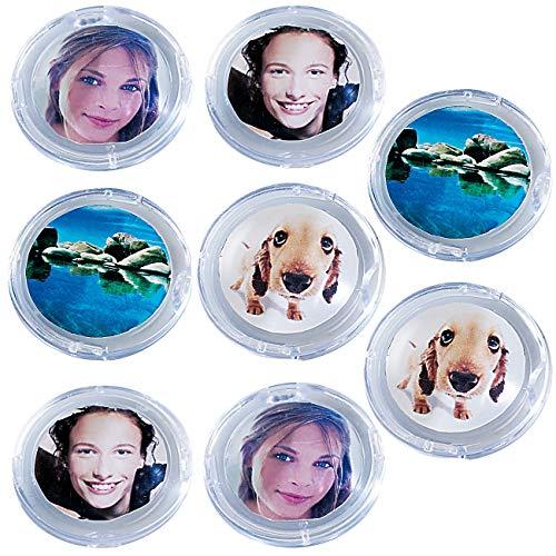 Your Design Fotomagnete: 8er-Set Bilder-Magnete (Foto-Magnet-Pins)