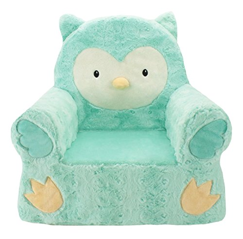 Sweet Seats| Animal Adventure|Teal Owl Children's Plush Chair