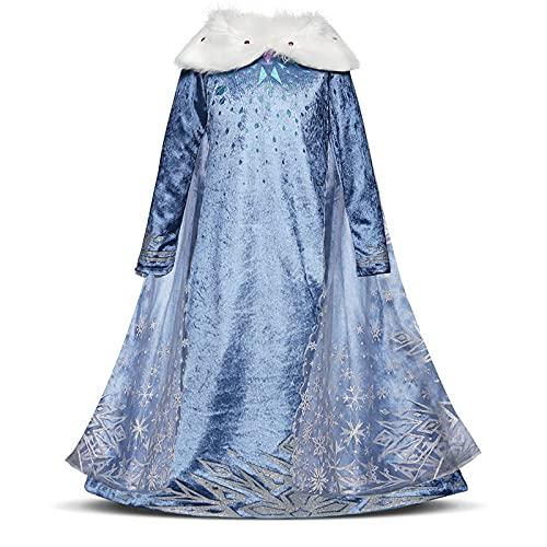 DZHTWSRYGR Disfraces de Navidad para nios, nias, Vestido de Princesa, Disfraz de Fiesta de Halloween, Navidad, Bata de cumpleaos para nios, Disfraz para nios