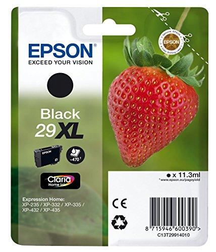 Epson Claria Home - Cartucho de Tóner para XP235, Paquete Estándar, XL, Color Negro, Válido para los Modelos XP-342, XP-345, XP-432, XP-442 y Otros, Ya Disponible en Amazon Dash Replenishment