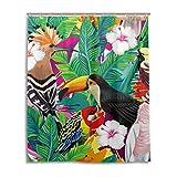 lianchenyi bunten Vogel Party Tukan Papagei Wasserdicht Bad Vorhang 100prozent Polyester Stoff Home Dekorative Badezimmer Dusche Vorhang 152,4x 182,9cm