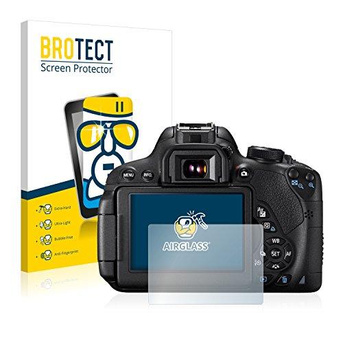 BROTECT Protector Pantalla Cristal Compatible con Canon EOS 700D Protector Pantalla Vidrio - Dureza Extrema, Anti-Huellas, AirGlass