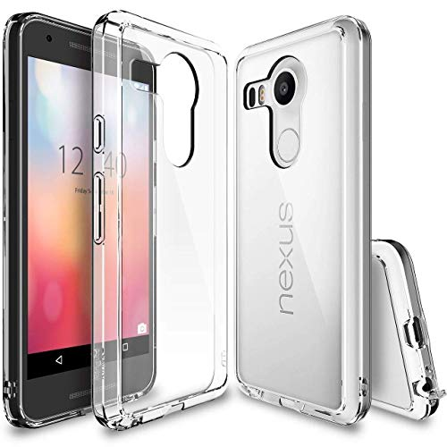 Rearth Ringke Shock Absorption Technology (FREE Screen Protector)(CRYSTAL VIEW) Clear Back Drop Protection Case for Google Nexus 5X 2015 (NOT for Nexus 5 2013)