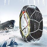 DWCL Catene da Neve for Auto, Set di 2 Pezzi, Catene da Neve Advance 3 mm, Adatto Auto SUV Camion for Emergenza Esterna (Size : 225/60R15)