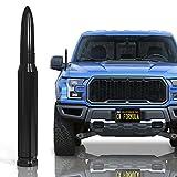 "CK Formula 50 Cal Bullet Antenna for Trucks, 5.5"" Black Automotive Antenna Replacement, AM/FM Radio Compatibility, Solid 6061 Aluminum Grading, Anti Theft Design, Car Wash Safe, Universal Fit, 1 Piece"