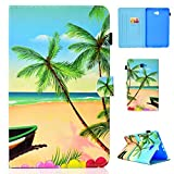 YKTO Coque Samsung Galaxy Tab A 10.1 (2016) SM-T580 / T585 PU Cuir Flip Support Style Portefeuille...