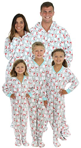 SleepytimePjs Family Matching Footed Polar Bear Pajamas