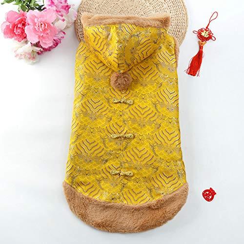 Big Dog Tang Dress Kleidung Pet Dog New Year Kleidung Winter Warm Fashion Cute Tang Anzug FüR GroßE, Mittlere Und Kleine Hunde L