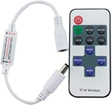 GHC LED Gloeilampen LED Strip Light 10 toetsen RF draadloze enkele kleur afstandsbediening LED Strip Dimmer DC 12V Toepass...
