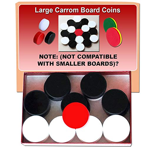 Carrom Board Coins + 1 Striker and 1 Bottle of Powder for Large Boards only! Please Read Note Below: