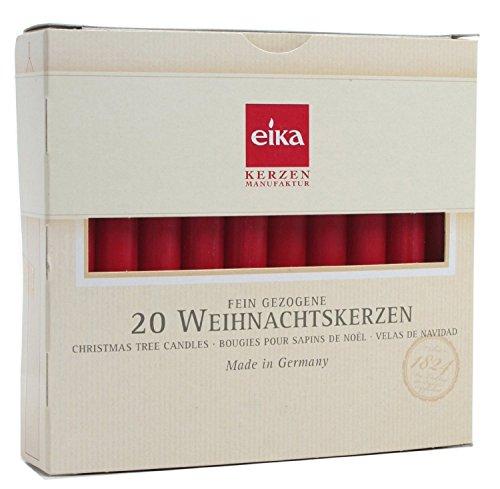 BRUBAKER Kerzen Weihnachtsbaum rot 20 Stück Made in Germany