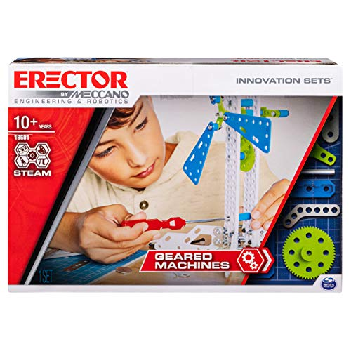 Erector by Meccano Geared Machines -  S.T.E.A.M. Building Kit
