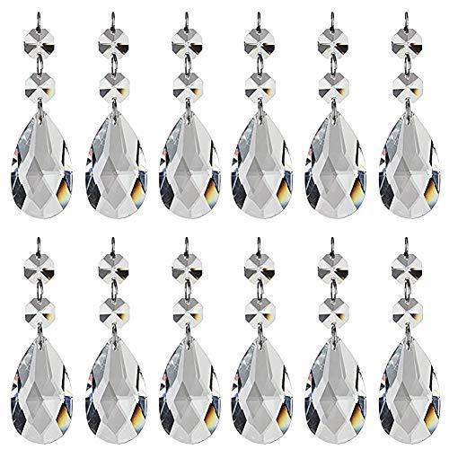 Moligin Colgante De Cristal En Forma De Lágrima del Grano De Cristal Araña De Cristal Neto Octogonal Beadsliving Accesorios De Habitaciones para La Boda Casa Oficina Decoración