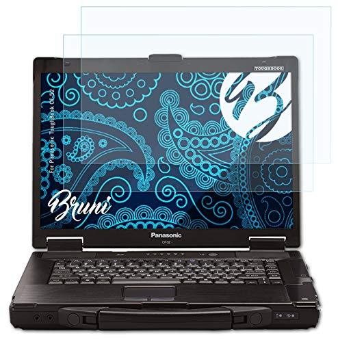 Bruni Schutzfolie kompatibel mit Panasonic ToughBook CF-52 Folie, glasklare Bildschirmschutzfolie (2X)