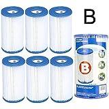 6 Cartouches de Filtration Intex pour filtre piscine - Intex TYPE B