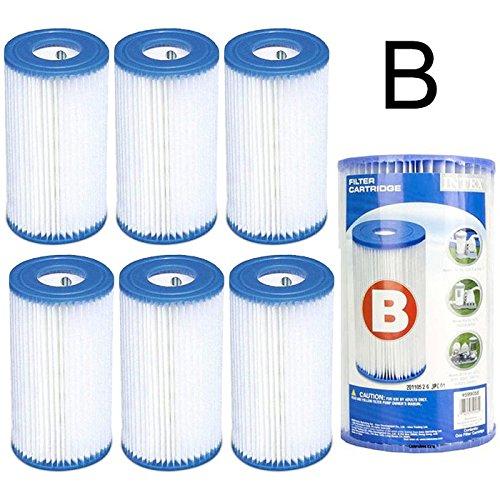 Générique 6 Cartouches de Filtration Intex pour Filtre Piscine - Intex Type B