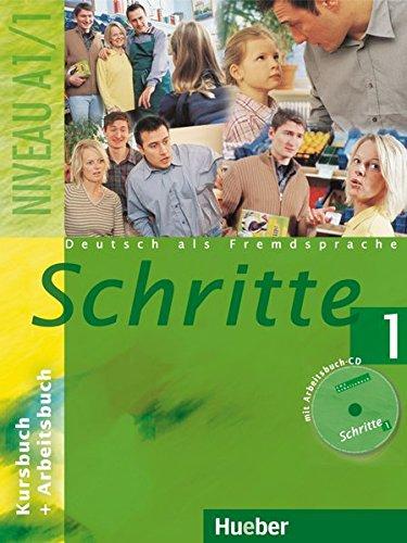 Schritte 1: Deutsch als Fremdsprache / Kursbuch + Arbeitsbuch mit Audio-CD zum Arbeitsbuch
