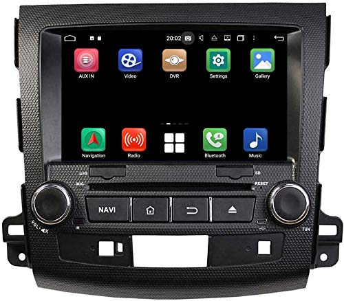 FDSAD Android 10.0 Double DIN Car Stereo Radio Multimedia Player 8-Core Car GPS Navigation para Peugeot 4007 (2006-2013),4gb ram+32gb ROM