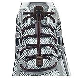 LOCK LACES (Elastic No Tie Shoelaces) (Brown, 48-Inch)