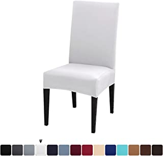 JQinHome Dining Chair Slipcover,High Stretch Removable Washable Chair Seat Protector Cover for Home Party Hotel Wedding Ceremony