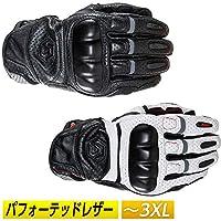 REAX リアックス Castor Perforated レザーグローブ 革 手袋 穴あき シンプル アメリカ キャスター(S ホワイト/ブラック/レッド)