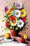 NoNo 3D Papier Puzzle Für Erwachsene Kinder Spielzeug Puzzles Holz Pädagogische Spielzeug Aufkleber Eiffelturm Blumen Malerei 1000pcs Blume