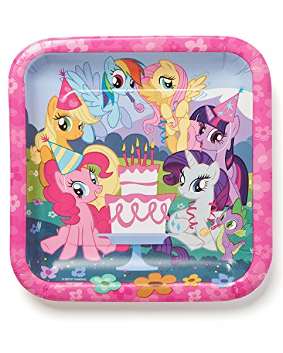 American Greetings Little Pony Paper Lunch Plates for Kids (8-Count)