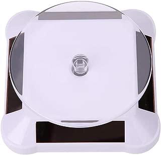 01 Pasamer Vetrina Solare 360 Gradi Giradischi Girevole Orologio da Polso organizzatore Gioielli espositore Nero Bianco Oro
