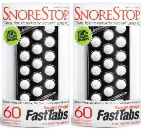 SnoreStop FastTabs, 60 Count (Pack of 2)