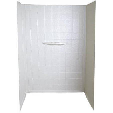 Lippert 306201 Better Bath 34 x 34 x 68 Neo Angle RV Shower Surround Parchment
