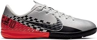 Junior Vapor 13 Academy NJR IC Soccer Shoes (Chrome/Black-Red Orbit)