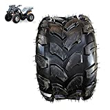 18X9.5-8 Tubeless Tires, 8 Inch Thick Cross-Country Drag Flowers Wear-Resistant Anti-Skid Tires, Suitable for ATV Odified Parts,Safe and Comfortable Tires Tire Replacement