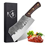 Professional Cleaver Knife 7.3 Inch Handmade Meat Cleaver High Carbon Steel Full Tang