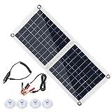 CXZC 60W Pieghevole Solar Panel Charger Kit, per generatore Portatile, telefoni cellulari, Auto, Barca, RV, rimorchio, Dual 5V USB, 12V/18V DC Output