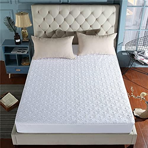 YDyun Protector de colchón, algodón, poliéster, Funda de colchón de algodón Antideslizante