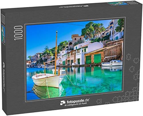 fotopuzzle.de Puzzle 1000 Teile Schöner Blick auf Cala Figuera, Alter Fischerhafen auf Mallorca, Balearen, Spanien Mittelmeer