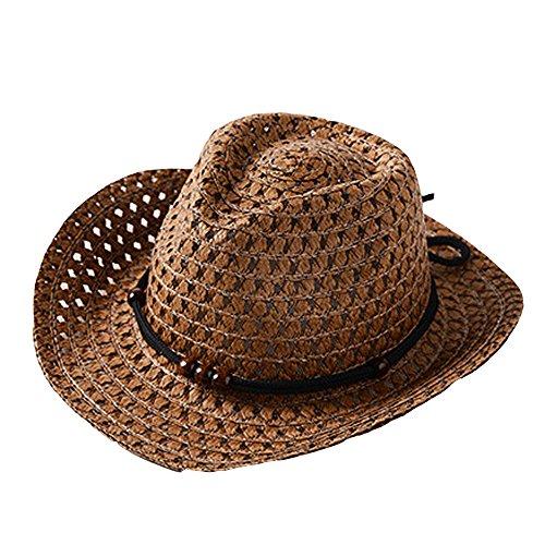 pingtr Sombrero del bebé niña y niño,Sombrero de Paja Transpirable de Verano para niños el Verano Playa de...