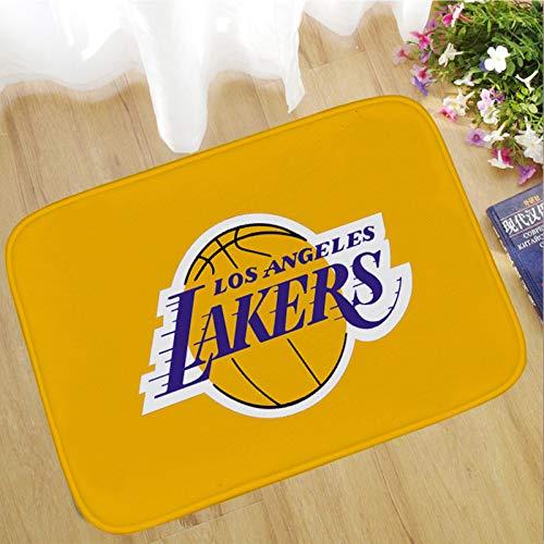 WYBY Kreative Mode Teppich-Los Angeles Lakers Basketball Court Carpet-Geeignet für Nacht Wohnzimmer Sofa Couchtisch Schlafzimmer Fußmatte 60 * 90cm