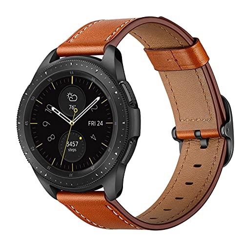 Correas de Cuero Compatibles con Samsung Galaxy Watch 3 / Correa de Repuesto de Correa de Cuero Genuino Vintage, Accesorios de Pulsera, para Hombre y Mujer de 6.1 a 8.7 de Muñeca