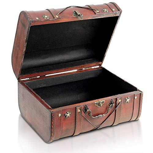 Brynnberg Boîte de Rangement Coffre au Trésor - Bois - Design Vintage Unique, Fabriquée à la Main - Élément Décoratif Impressionnant