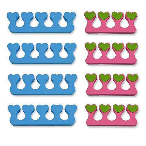 K-Pro Zehenspreizer Fingerspreizer Set 8 Stück Abstandhalter Nägel Lackierhilfe