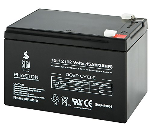 SIGA S15-12 Batterie 12 V/15 Ah