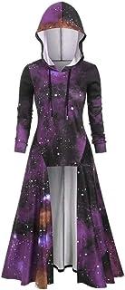 suéter de Capa Retro Alto y bajo de Moda para Mujer con Capucha de Gran tamaño de Manga Larga Camisa Caliente Traje de Falda