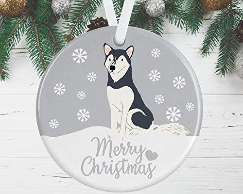 Husky Weihnachtsschmuck Husky Baumschmuck Husky Rot Husky Ornament