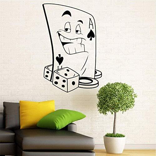 Wandaufkleber Wandtattoos Neuankömmling Poker Gambling Casino Wandtattoo Vinyl Aufkleber Spielkarten Anzug Home Interior Haushaltswaren Art Murals Decor 41 * 60Cm