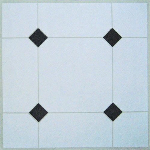 Piastrelle adesive in vinile, 100 pezzi, colore: bianco/nero