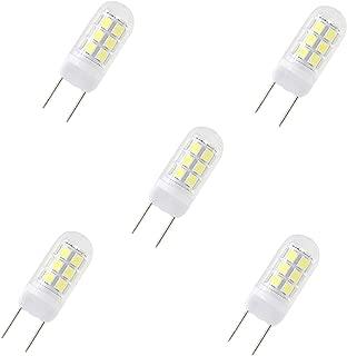 G8 LED Bulbs, 24 X 2835 SMD LED, 35W Halogen Replacement Bulb, Dimmable 120V 3.5W Led, G8 Bi-Pin Bulb LED, White 6000K,for Light Fitting, Under Counter Kitchen Lighting (5 Packs)
